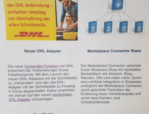 "News von unserem Plugin ""Marketplace Connector"""